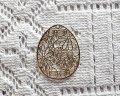 銅製透かしパーツ/卵型B(2枚)