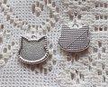 ミニ猫フレーム/シルバー(1個)