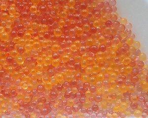 画像1: ノーホールガラスボール/オレンジミックス(10g)