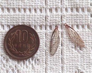 画像2: 現行品/メタルチャーム/蝉の翅