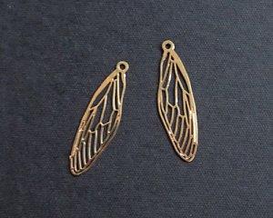 画像1: 現行品/メタルチャーム/蝉の翅