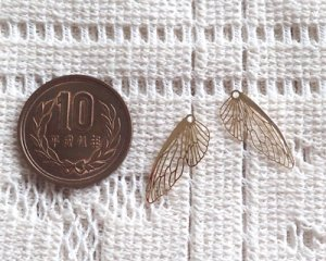 画像2: 現行品/メタルチャーム/蝶の翅