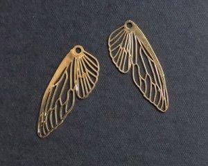 画像1: 現行品/メタルチャーム/蝶の翅