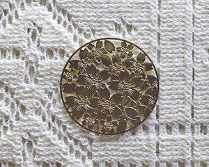 画像1: 銅製透かしパーツ/フラワーラウンドa(2枚)