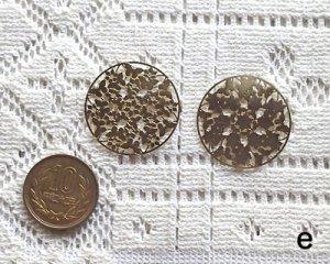画像2: 銅製透かしパーツ/フラワーラウンドe(2枚)