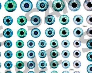 画像2: レジン封入シート/Doll eyes/A6