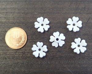画像2: ヴィンテージ/ドイツ/プラスティック/フラワーa/ホワイト(4個)