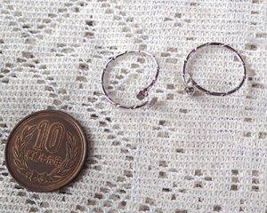 画像2: リングパーツ/3mmストーン+4mm平皿/本ロジウムメッキ(1個)