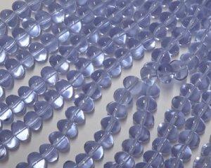 画像1: チェコガラスビーズ/ナゲット/アレキサンドライト/6×8mm(10個)