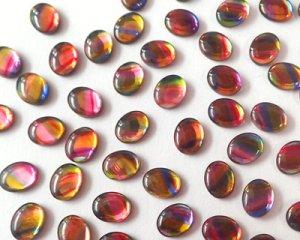 画像2: ヴィンテージ/ドイツ/ガラス/レインボー/10×8mm