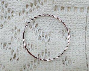 画像1: ブラスパーツ/スパークルリング/本ロジウムメッキ/25mm(2個)