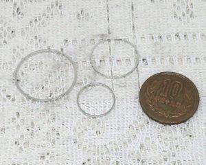画像3: ブラスパーツ/スパークルリング/本ロジウムメッキ/25mm(2個)