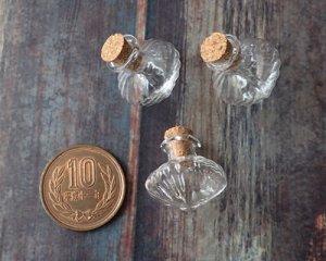 画像2: コマ型ストライプガラス小瓶(1個)