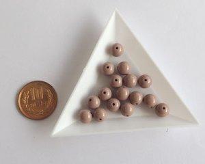 画像2: 日本製/アクリル塗装/ラウンド/赤茶/約8mm(10個)