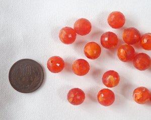 画像2: ヴィンテージ/ドイツ/プラスチック/オレンジマーブル(3個)