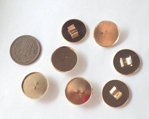 画像2: ヘアゴム用ラウンド皿/ライトローズゴールド(1個)