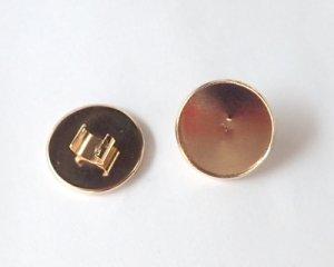 画像1: ヘアゴム用ラウンド皿/ライトローズゴールド(1個)