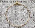ワイヤーフープ/約40mm/ゴールド(4個)