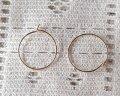 ブラス/ピアス/フープタイプ/ライトローズゴールド/20mm(2ペア)
