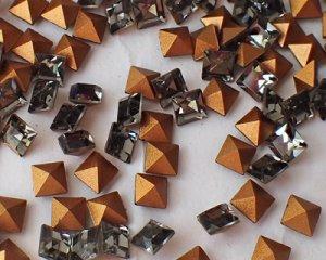 画像1: デッドストック/スワロフスキー/#4401/ブラックダイヤモンド/4mm(4個)
