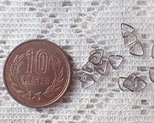 画像2: 三角カン/ロジウム/5mm(20個)
